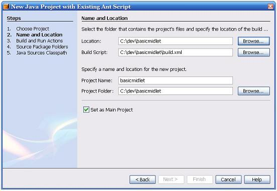 NetBeans 5 New Project